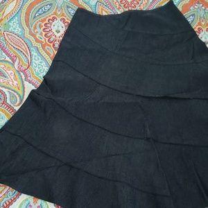 Denim tiered skirt